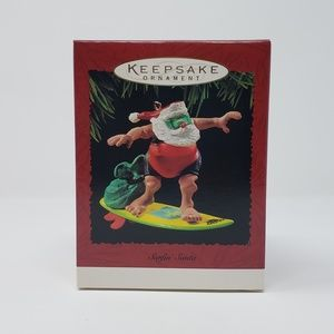 1995 Hallmark Surfin' Santa Ornament.